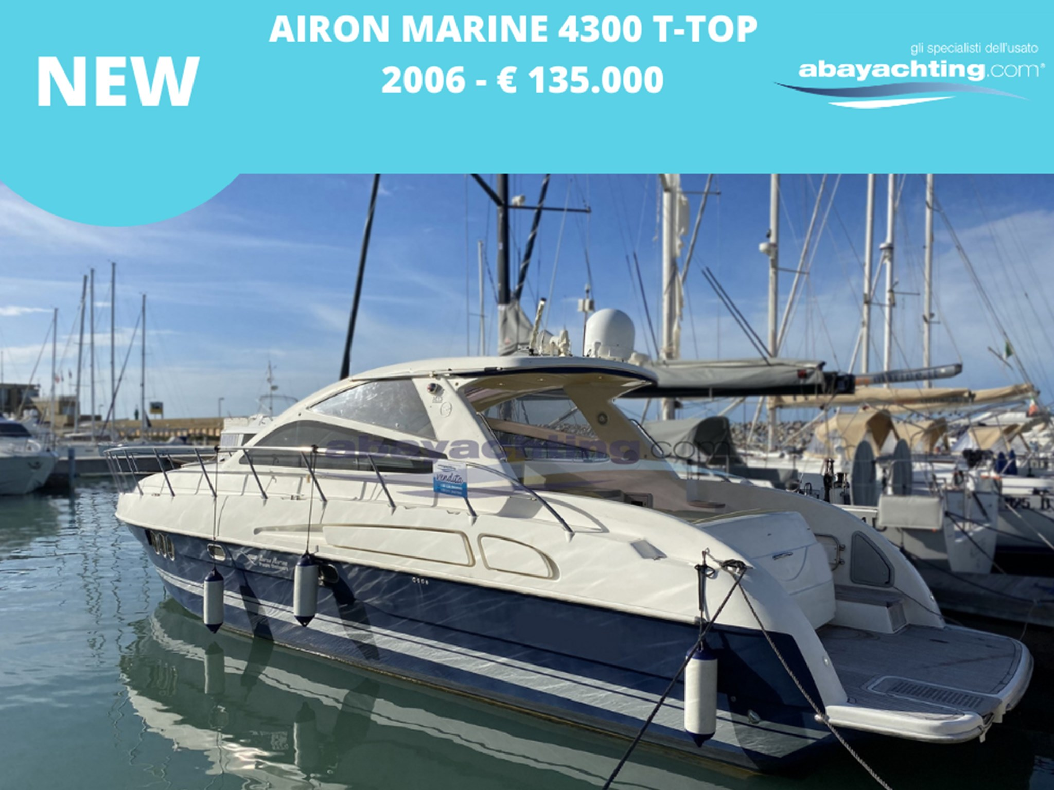 New arrival Airon marine 4300 T-Top