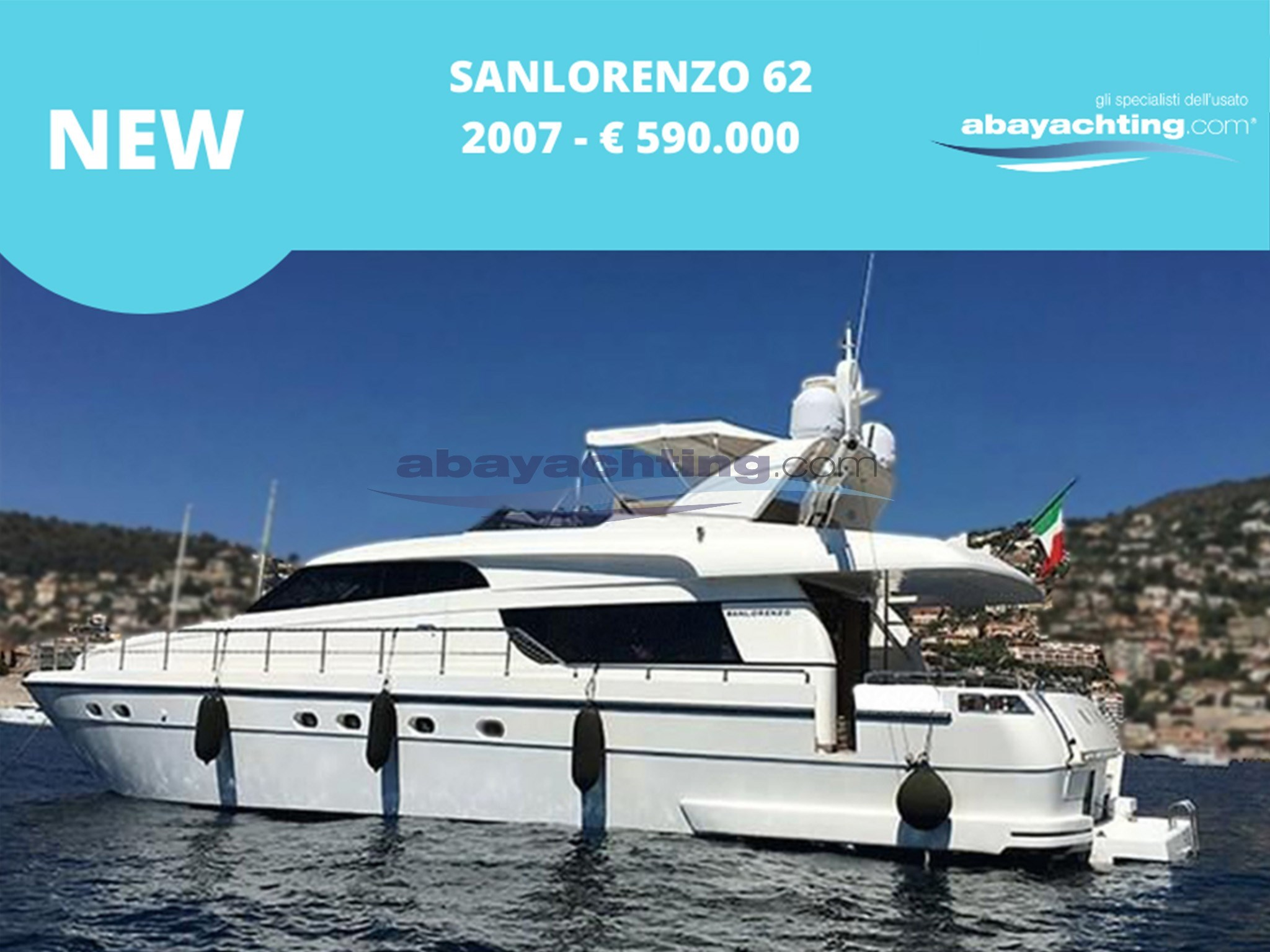 New arrival Sanlorenzo 62