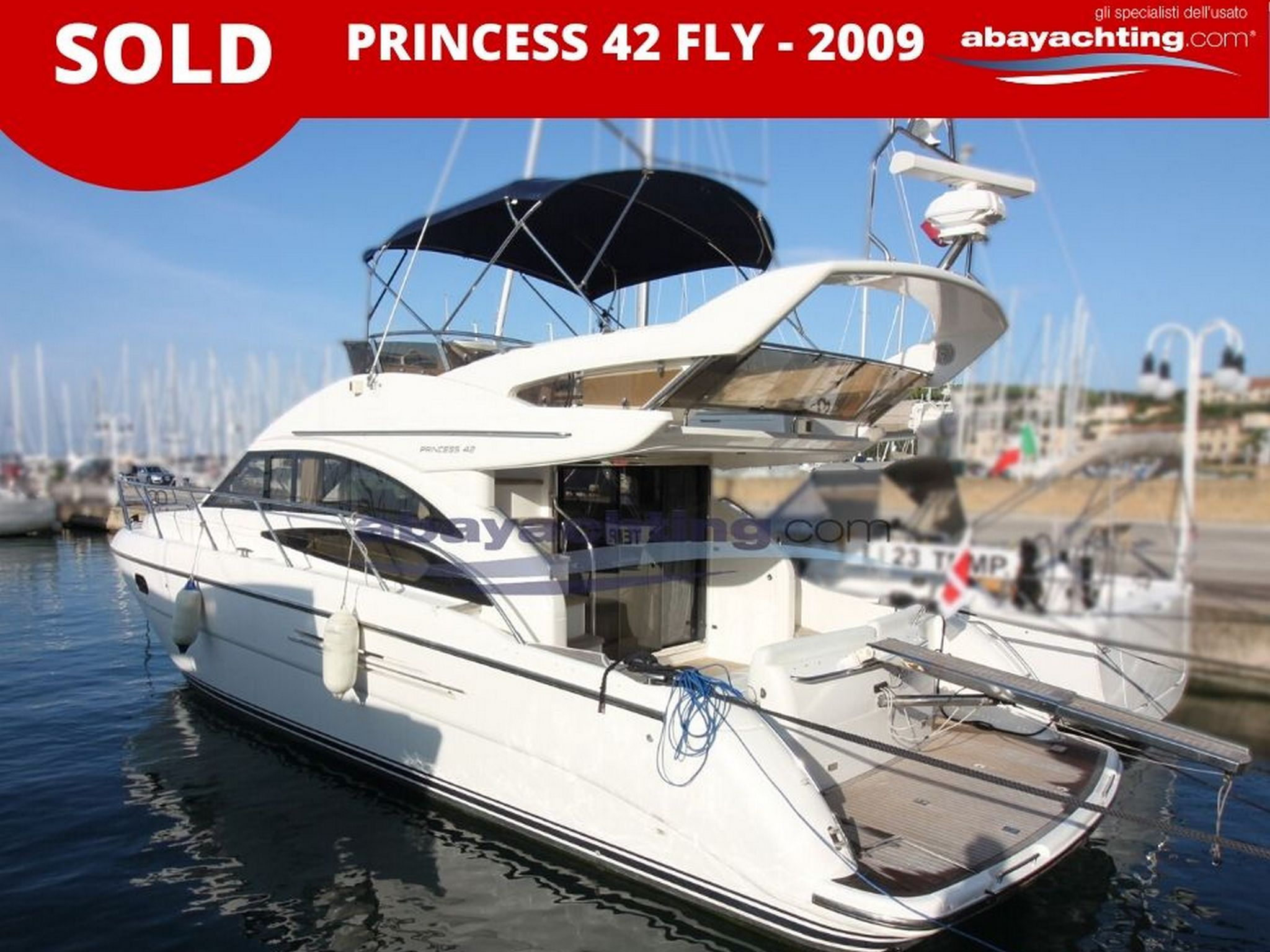 Princess 42 Fly vendu